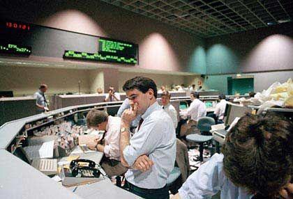 Schwarzer Montag: Auch an der Pacific Stock Exchange in Los Angeles fallen die Kurse