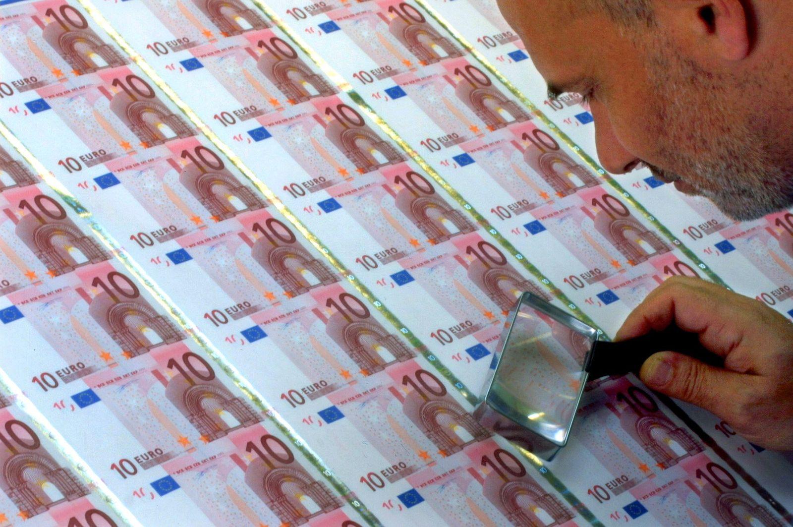 druck von euro-schein / Banknotendruck