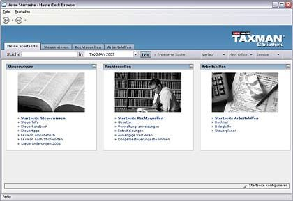 """Geschmacksfrage: Ein Blick auf die Demoversion im Internet - hier die Steuersoftware """"Taxman '07"""" - kann sich lohnen"""