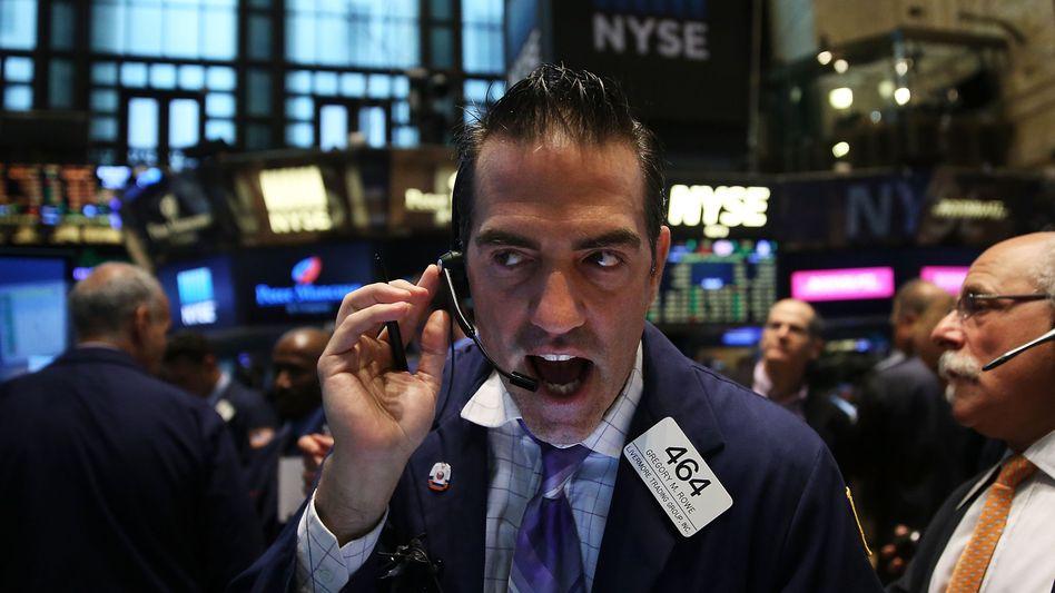 Händler an der New Yorker Börse: Die älteren Kollegen hatten noch doppelt so viele Namen auf dem Kurszettel