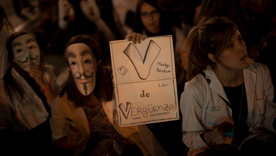 Streikende Ärzte in Malaga: Tausende Spanier suchen in Deutschland neue Jobs