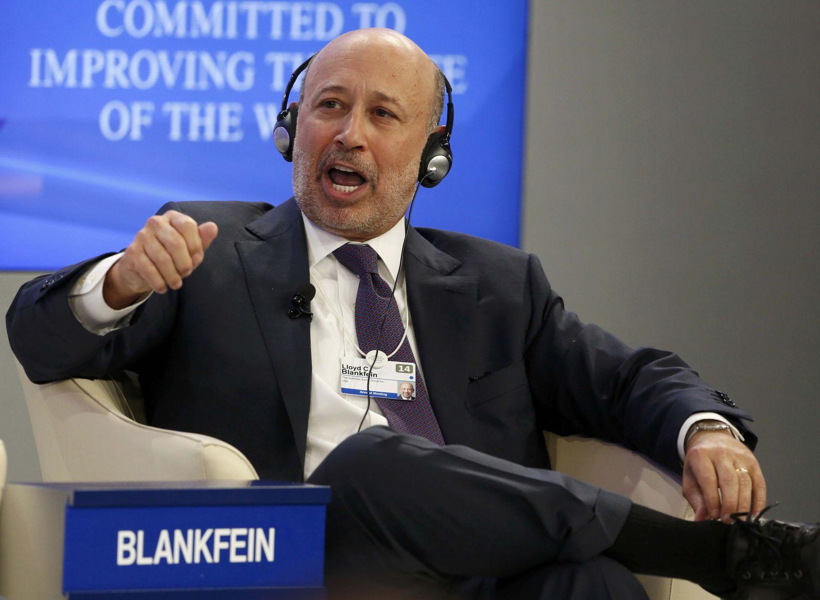 DAVOS/Goldman Sachs Blankfein