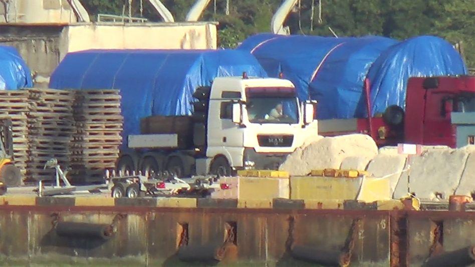 Sind sie das? Mindestens zwei Gasturbinen von Siemens sollen auf der Krim gelandet sein