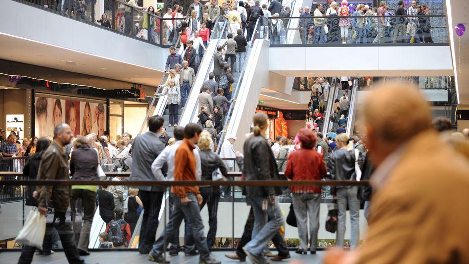 Einkaufszentrum in Dresden: Volle Läden, dennoch nur ein preisbereinigtes Wachstum im Einzelhandel in Höhe von 0,3 Prozent