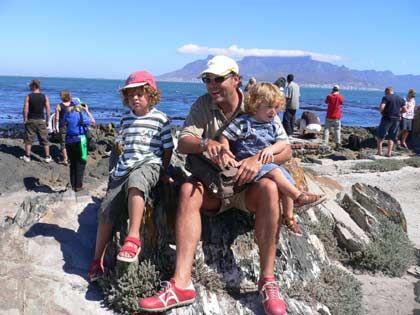 ... und in Südafrika am Meer