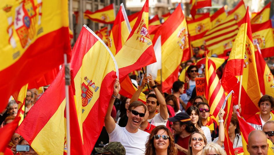 Demonstrationsteilnehmer in Barcelona
