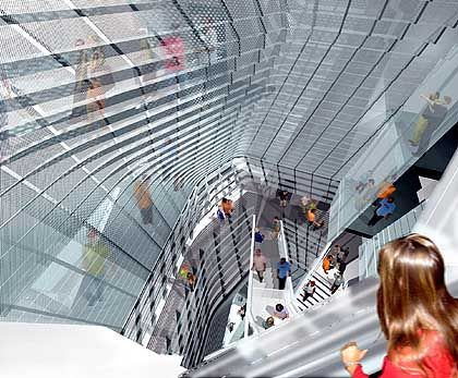 Durchblick: Entwurf für das New Yorker Cooper Union for the Advancement of Science and Art