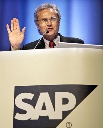 Darf zufrieden sein: SAP-Vorstandschef Henning Kagermann