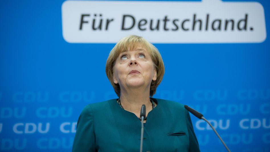 Angela Merkel (CDU) im Konrad-Adenauer-Haus: Die dritte Amtszeit wird keine leichte sein