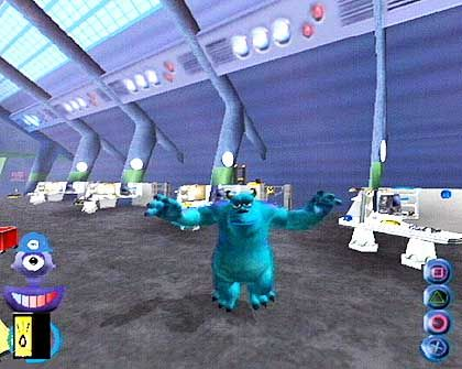 "Entgegenkommen: Pixar erwartet niedrigere Vertriebsabgeben (Szene aus dem Playstationspiel ""Monster AG"")"