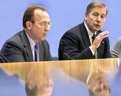Gerster und Minister Clement: Unter Bedauern entlassen
