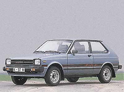"""1985 Starlet: Verbrauchsgünstigen Modellen wie dem Starlet hatten die """"Big Three"""" in den USA in den 80er Jahren nichts entgegenzusetzen."""