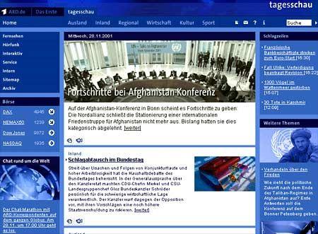 Screenshot von Tagesschau.de