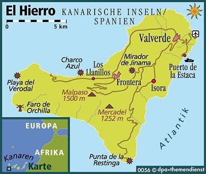 Abseits: Direktflüge von Deutschland nach El Hierro gibt es nicht. Die Anreise erfolgt über Teneriffa oder Gran Canaria.