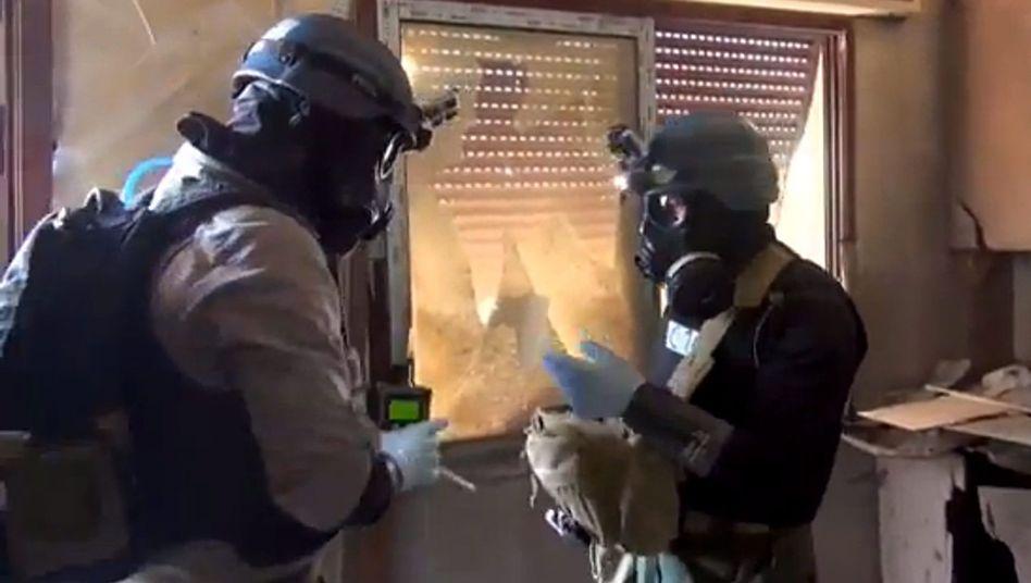 Giftgasvernichter der OPCW: Unterstützung für die Mission in Syrien