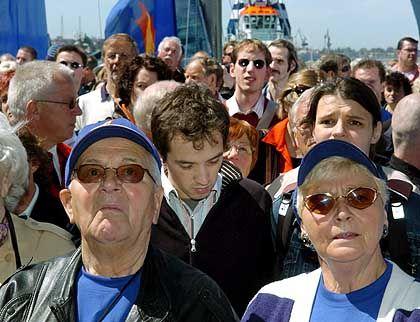 Die Partystimmung ist passé: Auch in Rostock, wo die Segelwettbewerbe ausgetragen werden sollten, war die Stimmung schlecht