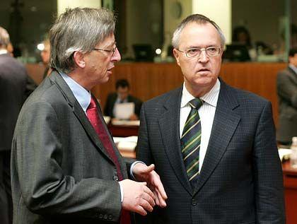 """Ratschef Juncker, Finanzminister Eichel: """"Heute wird es noch mal richtig zur Sache gehen"""""""