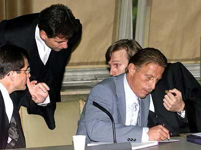 Christoph Daum im Koblenzer Gericht
