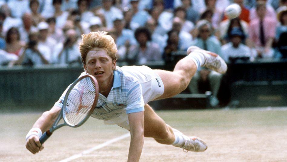 Boris Becker (beim ersten Wimbledonsieg (1985): Bumm Bumm Boris