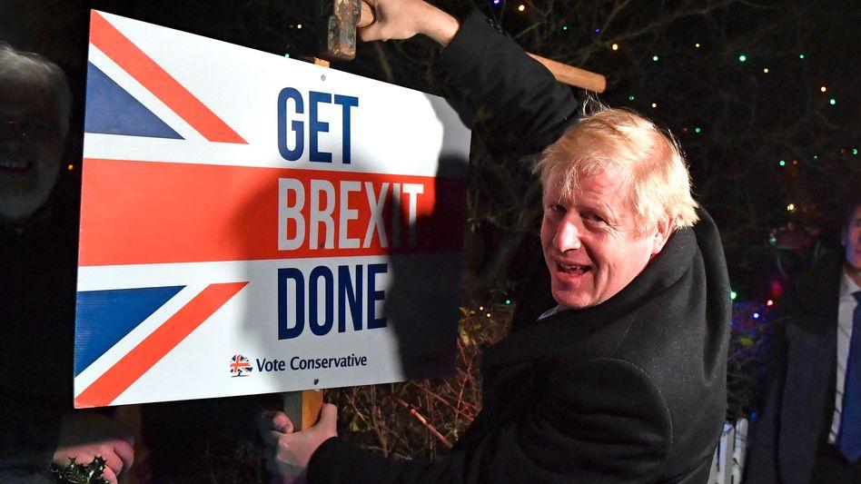 """""""Get Brexit Done"""": Boris Johnson am letzten Tag des Wahlkampfes"""