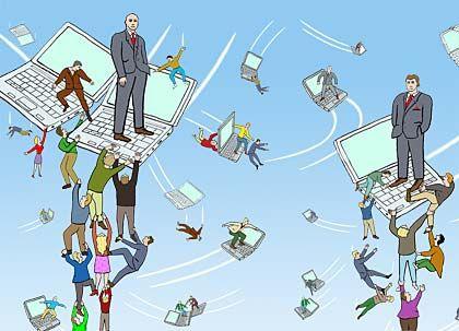 Masse statt Klasse: Viele Selbstständige und Berufsanfänger balgen sich bei Xing um wenige wertvolle Kontakte