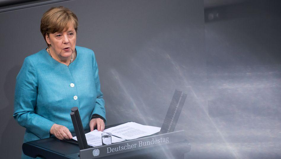 """Bundeskanzlerin Angela Merkel: """"Der Dissens ist offenkundig"""""""