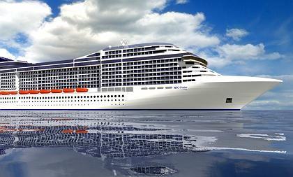 """""""MSC Musica"""" (Computeranimation): Das 294 Meter lange Kreuzfahrtschiff mit Platz für 2550 Passageier wird im Juli in See stechen"""