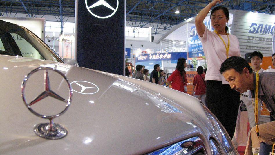 Mercedes-Ausstellung in Peking: Die Höhe der Strafe für Mercedes haben Chinas Preiswächter noch nicht festgelegt