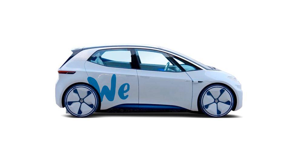 So sollen die Elektroautos von VWs neuem Carsharing-Dienst We aussehen