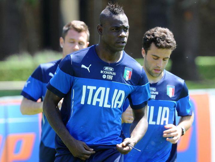 Offensiver Auftritt: Italiens Stürmer Balotelli
