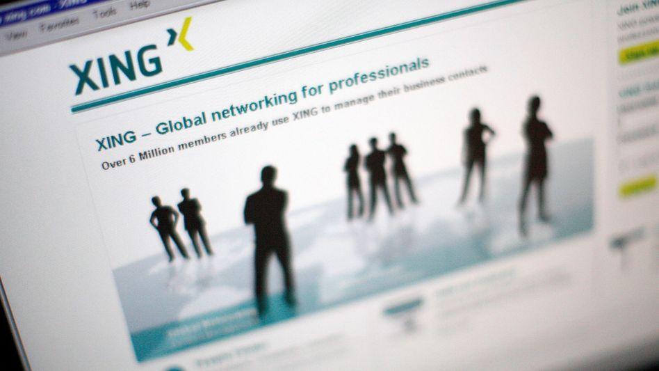 Xing-Website: Nutzer können Jobs anbieten und sich über Geschäftsideen austauschen