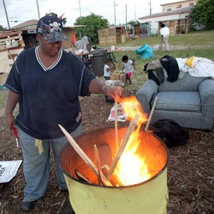 Obdachloser in Miami: Obwohl die Armutsschwelle sinkt, fallen immer mehr Amerikaner darunter