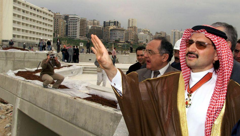 Prinz Alwaleed bin Talal in Aktion: Im Bild die Besichtigung eines seiner Bauvorhaben