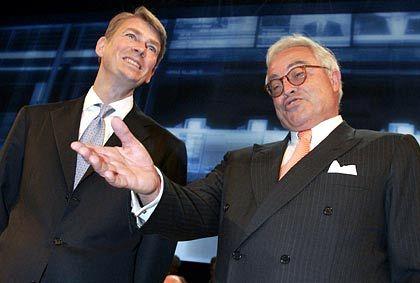 Große Geste: Interimschef der Deutschen Börse, Mathias Hlubek (l.) und Aufsichtsratschef Rolf-E. Breuer