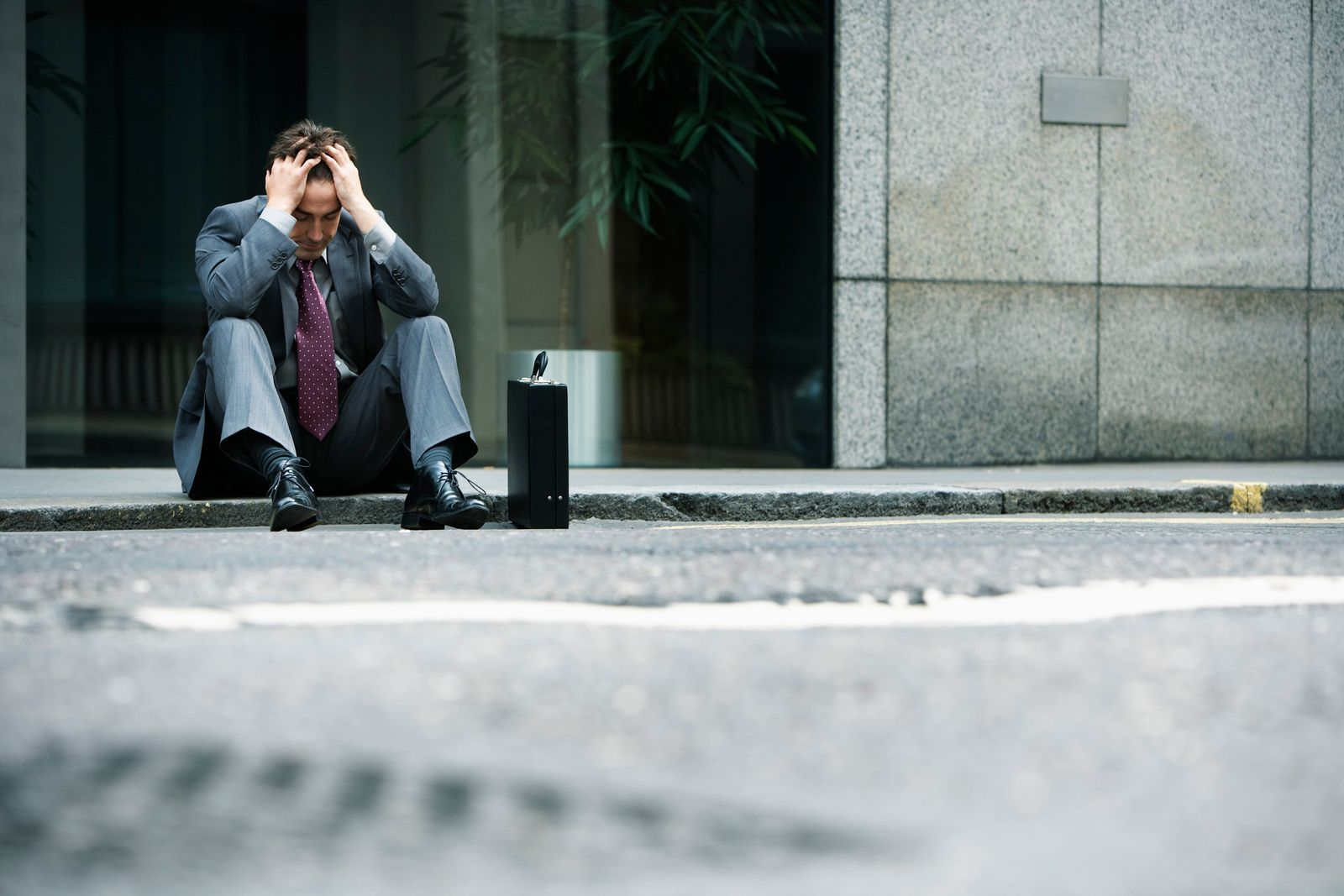Geschäftsmann/ Niederlage