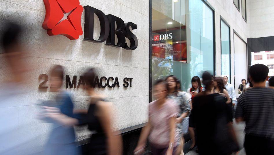 DBS-Bank in Singapur: Anders als viele deutsche Geldhäuser hat diese Bank die Digitalisierung und ihre Folgen für das Kundenverhalten nicht verschlafen