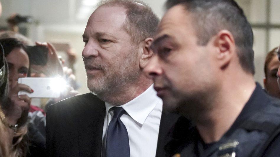 Bleibt er frei? Harvey Weinstein bei einer Anhörung im April.