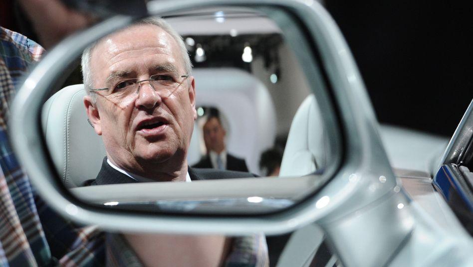 Schon weg: VW-Chef Martin Winterkorn verlässt den Salzgitter-Aufsichtsrat