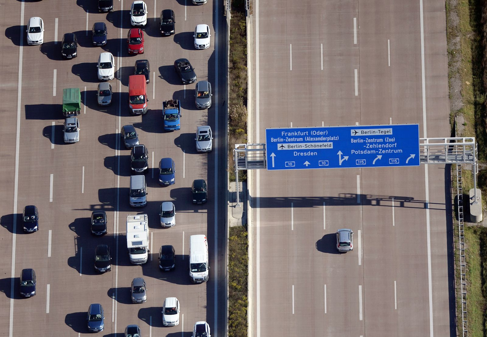 Autobahn / Stau / Brandenburg