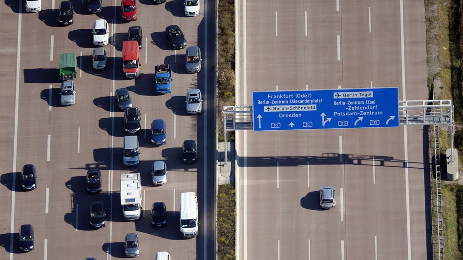 Autobahndreieck Nuthetal nahe Michendorf in (Brandenburg)