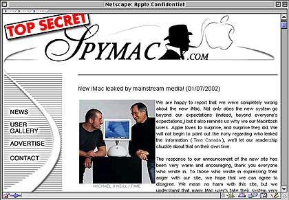 """Spymac gelang es - wie vielen anderen Mac-Newssites - das vorab veröffentlichte Foto zu """"grabben"""". Klagewürdig - oder ein gewolltes """"Leck""""?"""