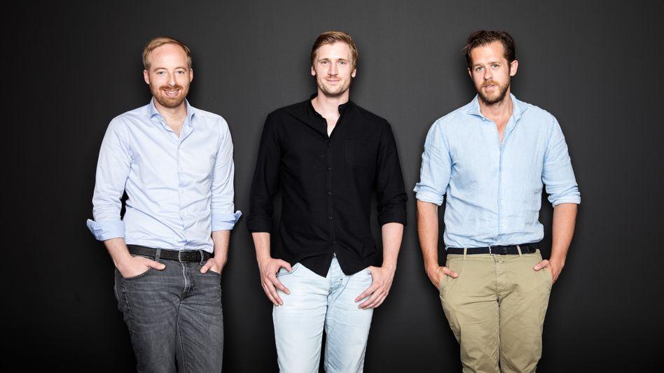Geldgeber: Rubin Ritter, David Schneider, Robert Gentz (von links).