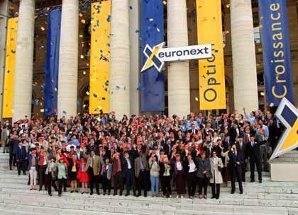Die Euronext: Der Vorstand der Vierländerbörse (hier Handelsplatz Paris) hat sich mit den Spitzen der Deutschen Börse über eine mögliche Fusion unterhalten