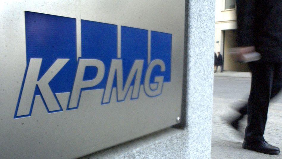 Ein Logo der Wirtschaftsprüfungsgesellschaft KPMG
