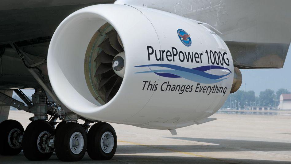Triebwerksbauer am Drücker: Getriebefan PW1000G beim Erstflug 2008
