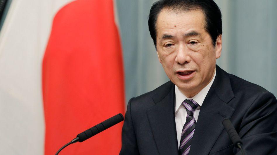 87-prozentige Bebenwahrscheinlichkeit: Japans Ministerpräsident Kan bei der Bekanntgabe der Pläne, das Kraftwerk in Hamaoka anzuschalten