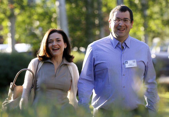 Sheryl Sandberg mit Ehemann Dave Goldberg (Archivaufnahme 2014)