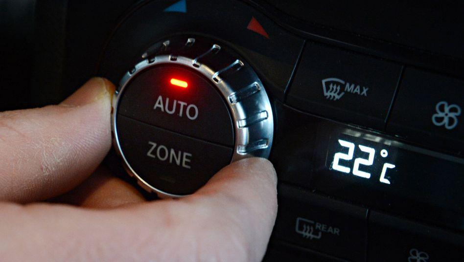 Klimaanlage in einem Auto von Daimler