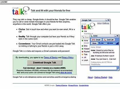 """Google """"Talk"""": Der US-Konzern entwickelt sich vom Suchmaschinenbetreiber zum Alleskönner"""