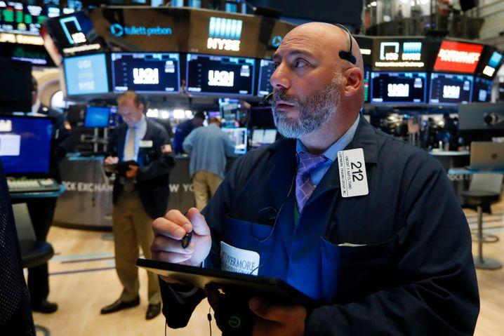 Trader an der Wall Street: Rekordhochs im Handelsverlauf